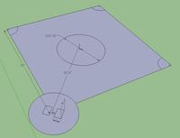Google SketchUp: baseball diamond